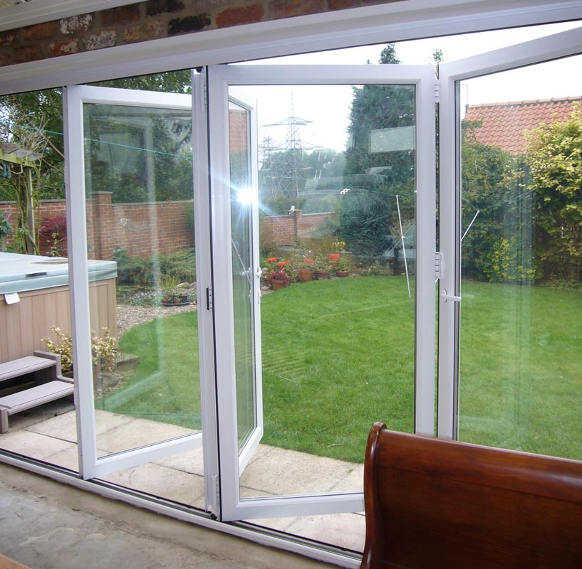 Bifold door interior