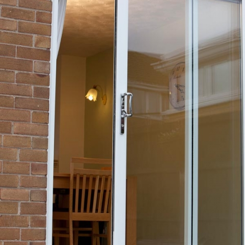White patio door