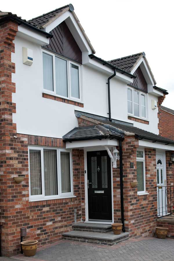 White slimline uPVC windows